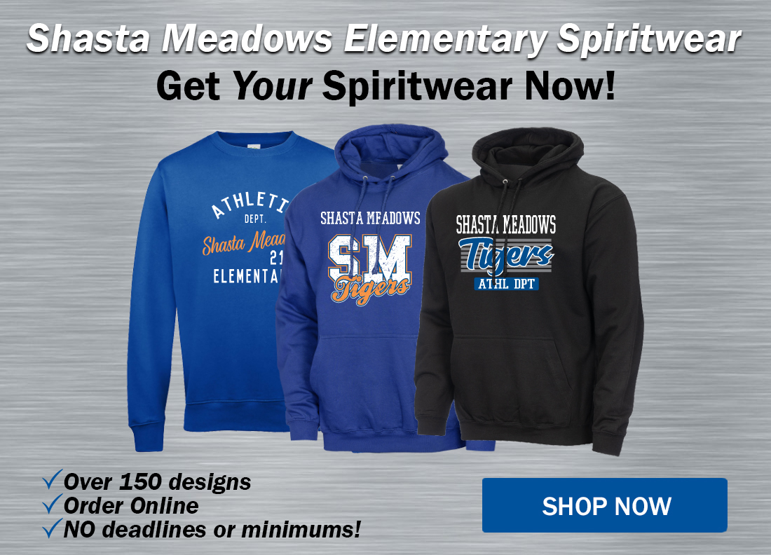 Order your Shasta Meadows t-shirts, hoodies and more!